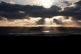 Sunset over the Dee Estuary