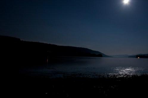 Coniston at midnight by moonlight