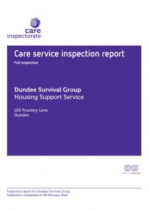 Dundee Survival Group Inspection Report 2016