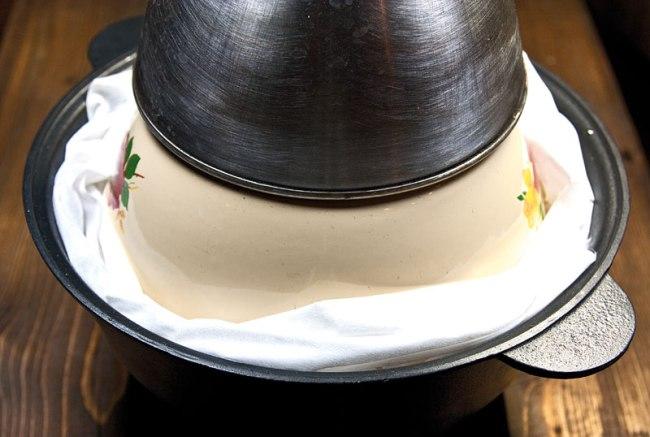 постановка риса на упревание при приготовлении плова по-фергански