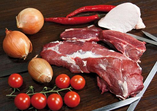 пропорции лука, сала и мяса для люля-кебаба