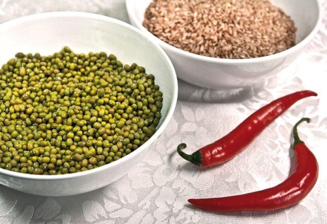 маш и рис для приготовления машкичири