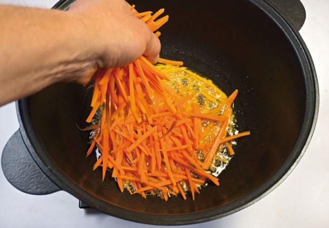 обжарка моркови для постного машкичири