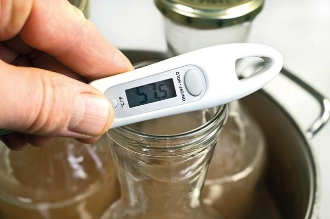 замеры температуры вина при его пастеризации