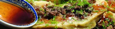 отварной картофельный пирог с мясной начинкой
