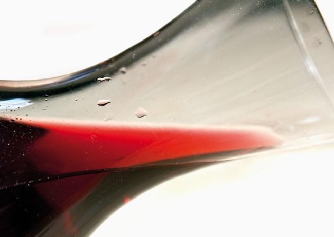 оценка состояния осветленного вина из малины