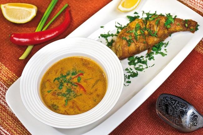 сервировка и подача рыбного супа