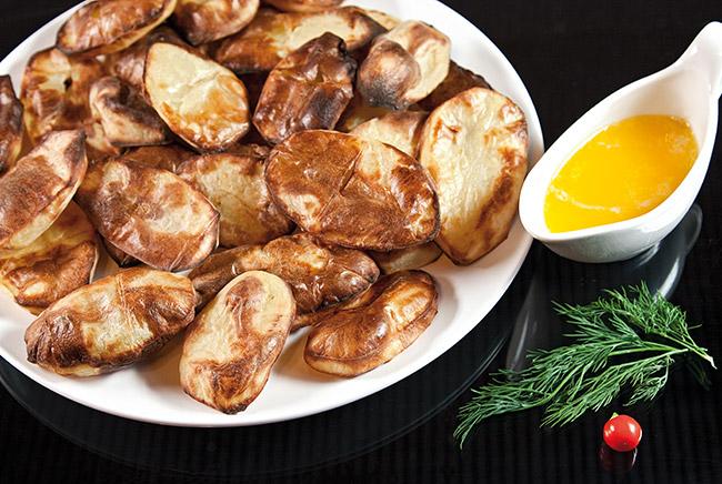 сервировка и подача печеного картофеля