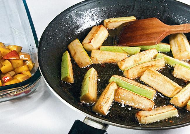 обжарка кабачков для теплого салата