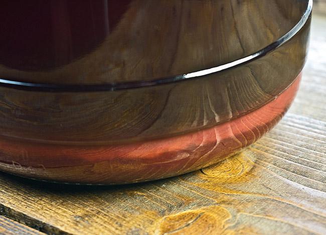 контроль за осадком при приготовлении наливки из клюквы