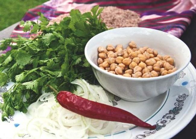 набор продуктов для приготовления бахша - вегетарианского плова