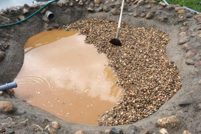промывка щебня в чаше биоплато