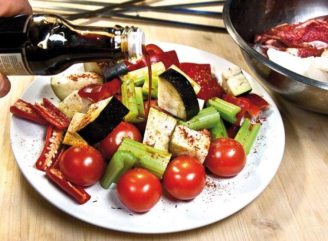 маринование микста овощей для особого шашлыка - титрама-кебаба