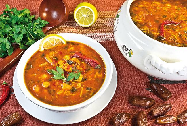 сервировка и подача бедуинской хариры на хаше от дундука-кулинара