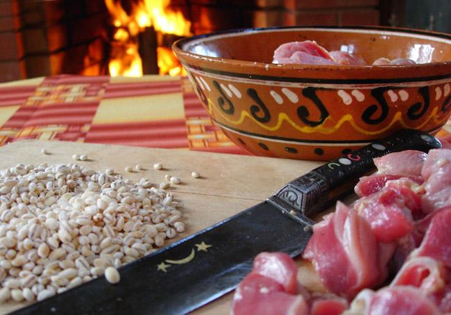подготовка перловой крупы и цыплячьих желудков для щей уральских по-вологодски