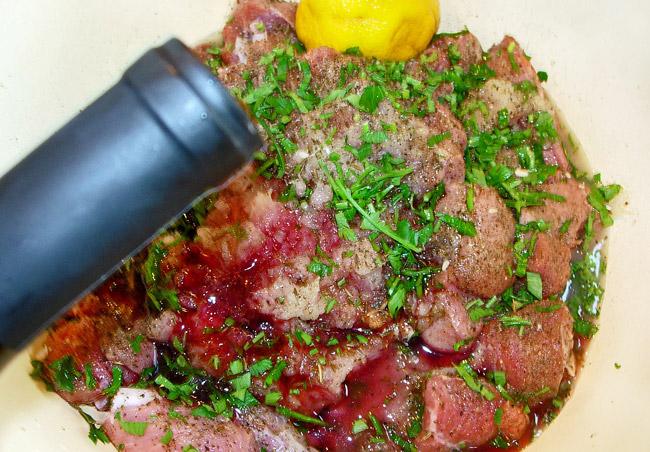 предварительное маринование мяса