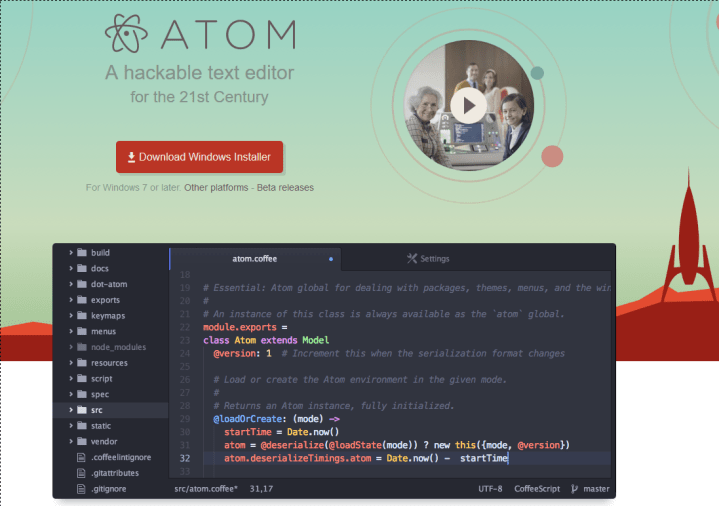 atom editor kotlin