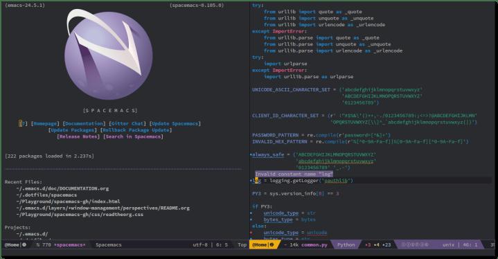 spacemacs mac text editor