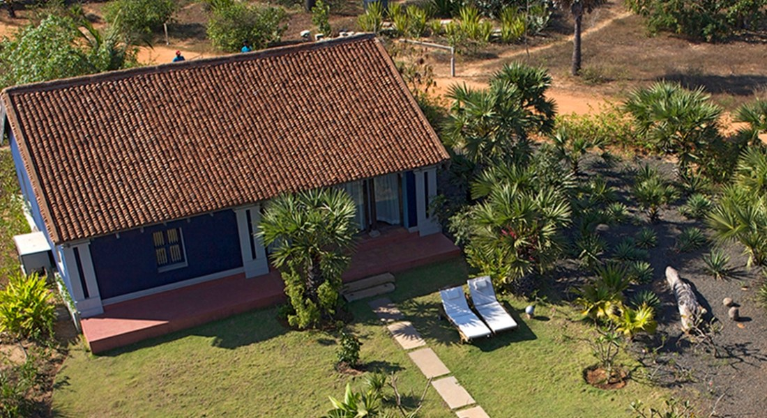 Aérial view of Gramama Suite house at Due Eco Village and Spa