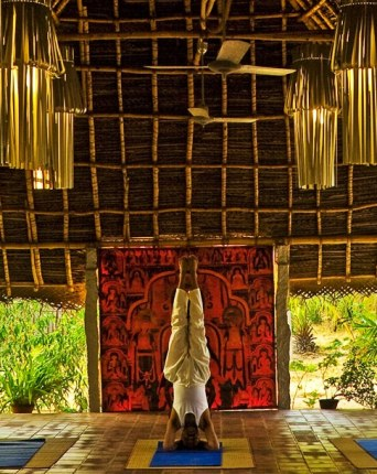 The yoga hall at Chopra Healing Center In Dune Eco Village and Spa