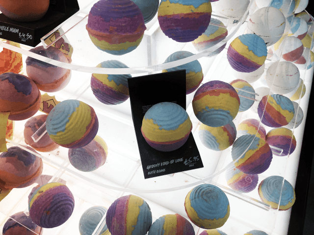 Bath bombs from Lush Liverpool