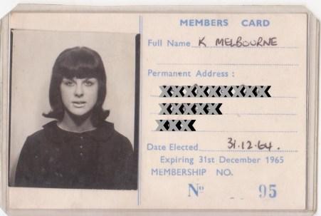 Membership Card No 95