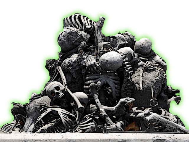 Scary pile of skeleton bones 5e