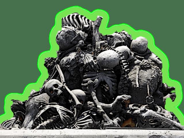 Scary pile of skeleton bones 5e