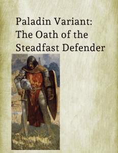 5E Paladin Variant: Oath of the Steadfast Defender
