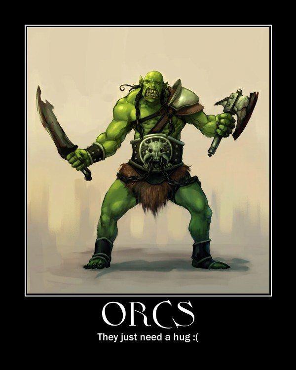 Orc - Free Hugs!