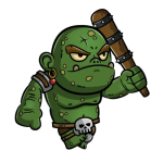 This is a tiny ogre created by the 5e D&D minor illusion spell.