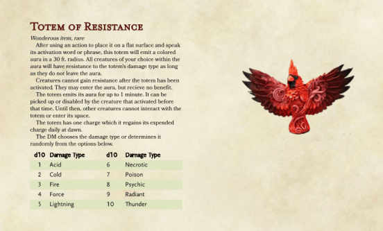 Homebrew Item Totem of Resistance