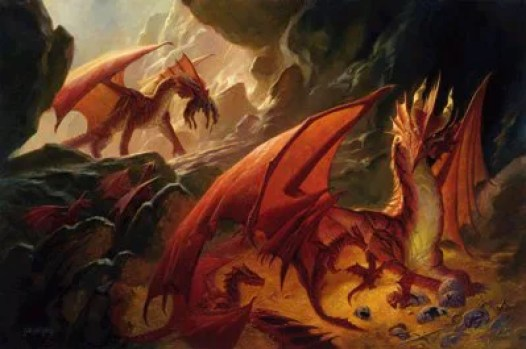 D&D 5e Red Dragon Lair Actions