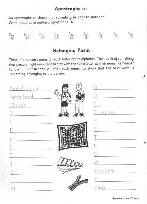 small resolution of Weekly Grammar Worksheet Apostrophe S   Printable Worksheets and Activities  for Teachers