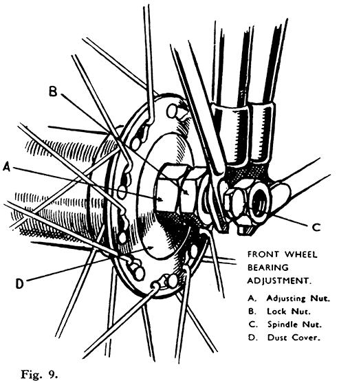 Adjustment of Front Wheel Bearings