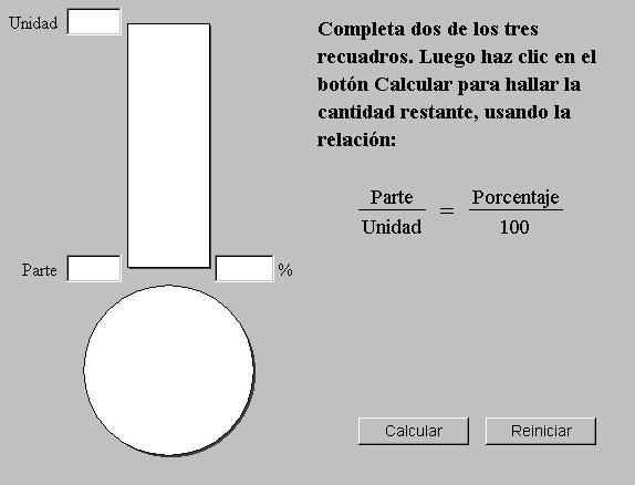 Divido en unidades y tomo una parte, ¿Qué porcentaje obtengo?