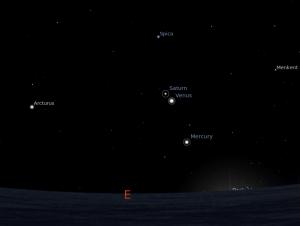 Langit timur dinihari -stellarium-
