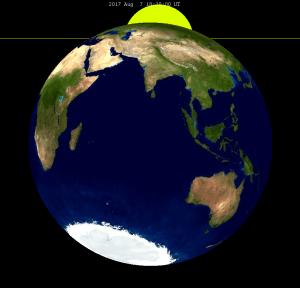 Kenampakan Gerhana Bulan Sebagian GBS 7 8 Agustus 2017 dari Bulan
