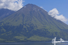 Sangeang Api volcano near Flores in Indonesia
