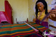 Ikat traditional weaving in Wera in Indonesia
