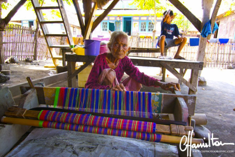 Ikat is traditional weaving in Wera in Indonesia