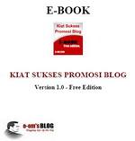 Gambar Ebook Kiat Sukses Promosi Blog