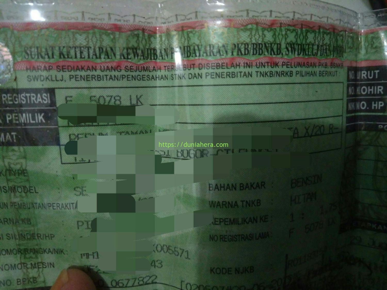 Membayar Pajak Kendaraan Dengan Waktu Singkat - duniahera.com