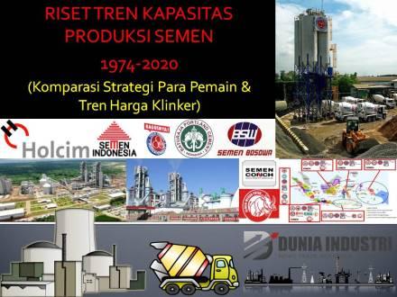 """<span itemprop=""""name"""">Riset Tren Kapasitas Produksi Semen 1974-2020 (Komparasi Strategi Para Pemain dan Tren Harga Klinker)</span>"""