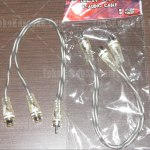Kabel RCA Y Adapter New Tide Dual Female RCA to Single Male RCA
