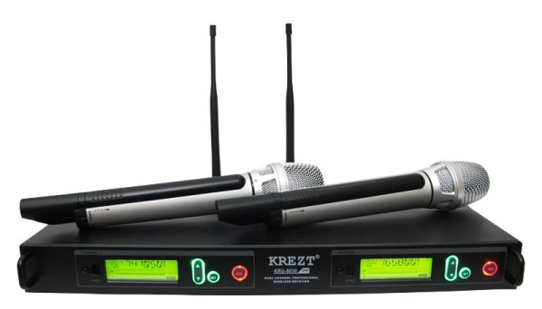Microphone Wireless Krezt KRU 8030
