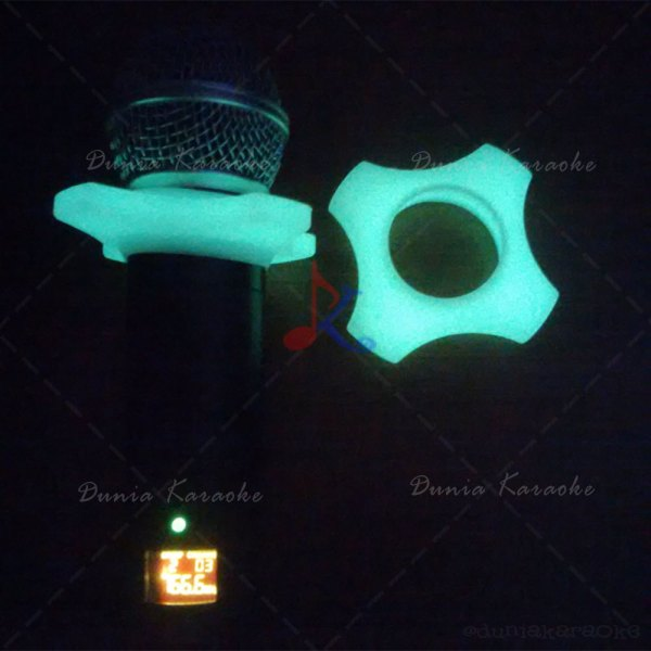 Gelang Karet Mic Glow In The Dark ( Mic Wireless )