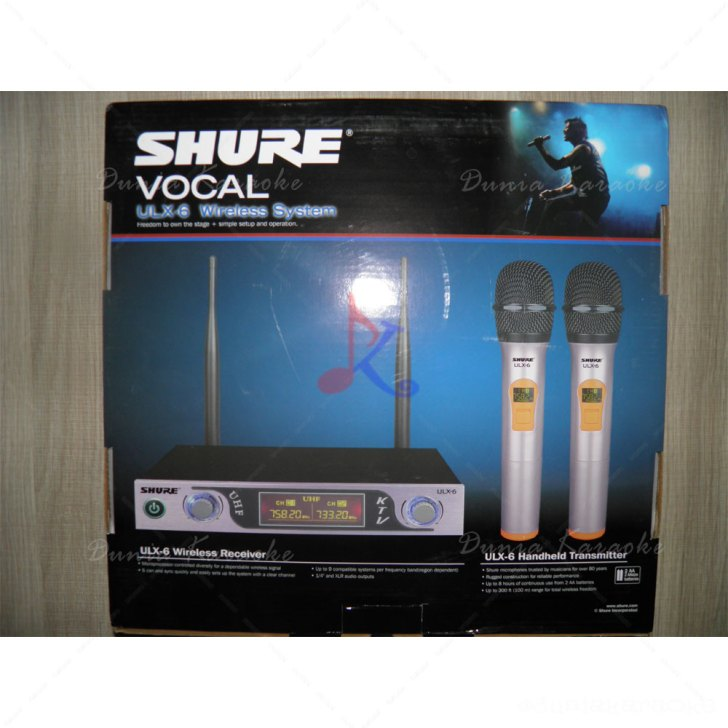 Mic Wireless Shure ULX 6 Value Series