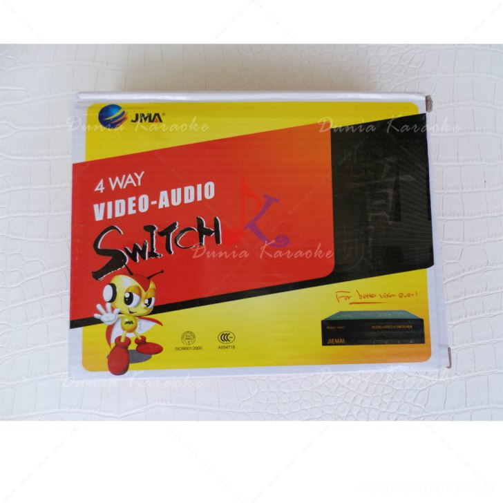 4 Way Video Audio Switch JMA VA401 Selector 4 In 1 Out AV Switcher