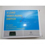 Audio Video Selektor 401VA 4 Load Video-Audio Switcher